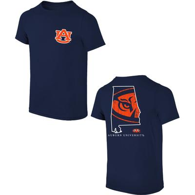 Auburn State with Tiger Eye Logo Tee Shirt
