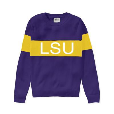 LSU Hillflint Women's Stripe Sweater