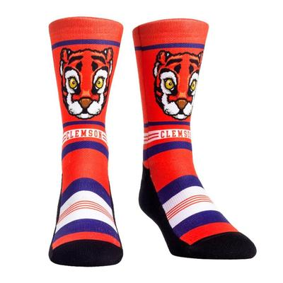 Clemson Rock'em Mascot Single Face Socks