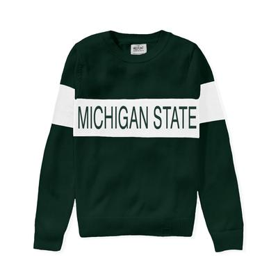Michigan State Hillflint Women's Stripe Sweater