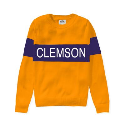 Clemson Hillflint Women's Stripe Sweater