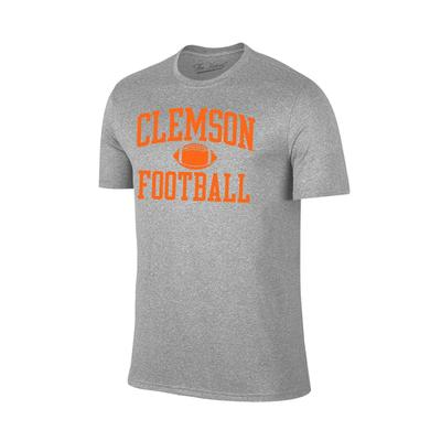 Clemson Arch Football Tee Shirt GREY