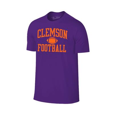 Clemson Arch Football Tee Shirt PURPLE
