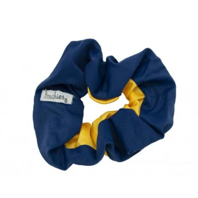Pomchies Navy and Yellow Gold Hair Scrunchie