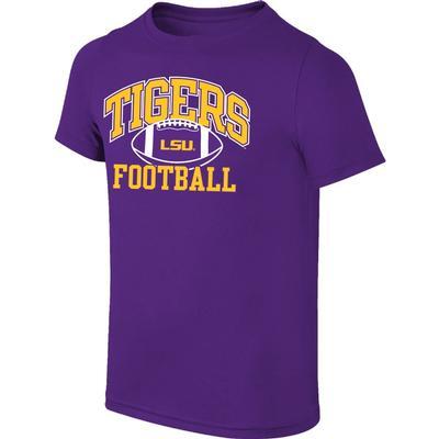 LSU Youth Arch Tigers Football Tee Shirt