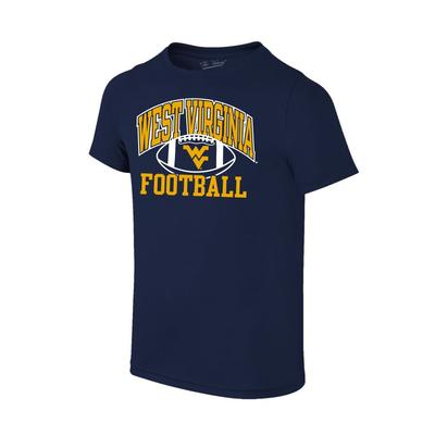 West Virginia Youth Arch Football Tee Shirt