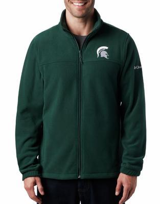 Michigan State Columbia Men's Flanker III Fleece Jacket SPRUCE