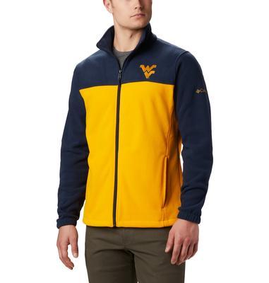 West Virginia Columbia Men's Flanker III Fleece Jacket