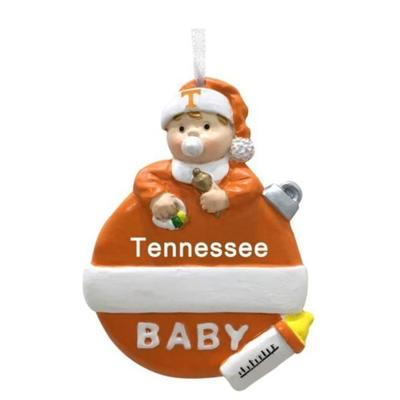 Tennessee Seasons Design Baby's 1st Christmas Ornament