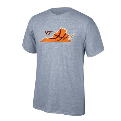 Virginia Tech Basketball in State Tee Shirt