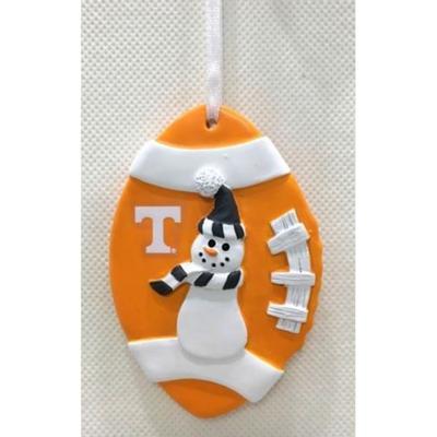 Tennessee Seasons Design Football Snowman Ornament