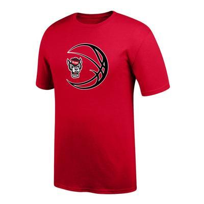 NC State Wolf Logo in Basketball Tee Shirt