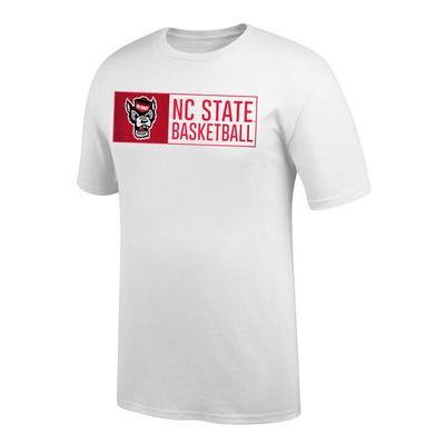 NC State Basketball Bar Logo Tee Shirt WHITE