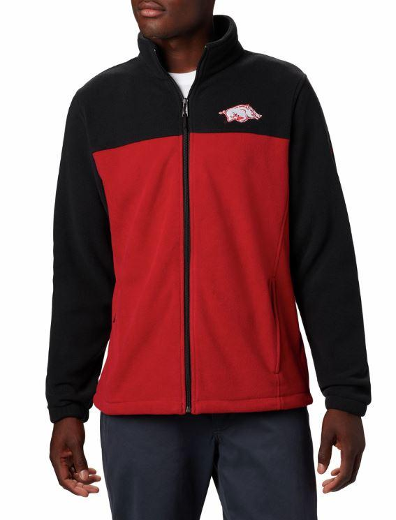 Arkansas Columbia Men's Flanker Iii Fleece Jacket - Big Sizing