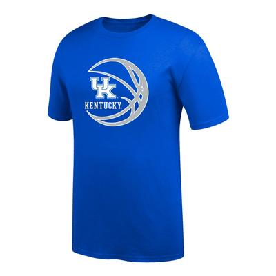 Kentucky UK Logo in Basketball Tee Shirt