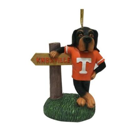 Tennessee Seasons Design Mascot with Sign Ornament