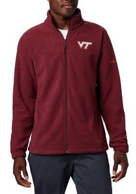 Virginia Tech Columbia Men's Flanker III Fleece Jacket - Big Sizing MAROON