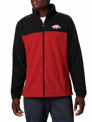 Arkansas Columbia Men's Flanker III Fleece Jacket - Tall Sizing