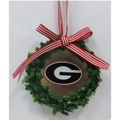 Georgia Seasons Design Wreath Logo Tin Ornament