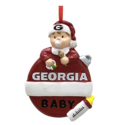 Georgia Seasons Design Baby's 1st Christmas Ornament