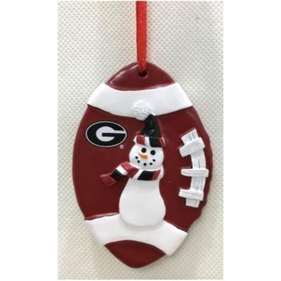 Georgia Seasons Design Football Snowman Ornament
