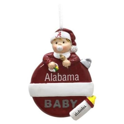 Alabama Seasons Design Baby's 1st Christmas Ornament
