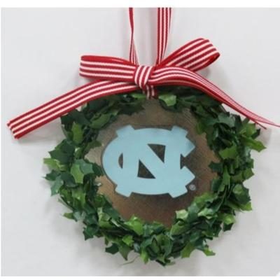 UNC Seasons Design Wreath Ornament