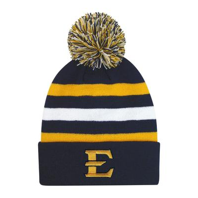 ETSU Halftime Kids' Striped Pom Cuff Knit Hat