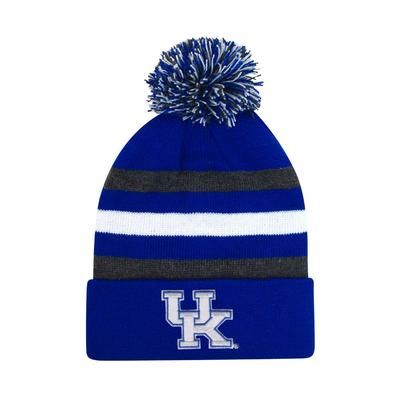 Kentucky Halftime Kids' Striped Pom Cuff Knit Hat