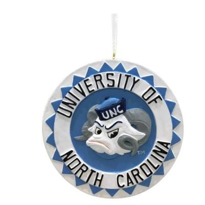 UNC Seasons Design 3D Mascot Ornament