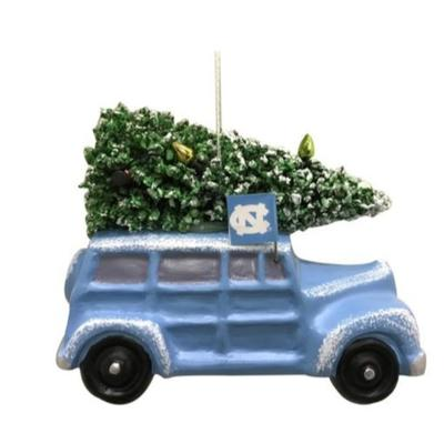 UNC Seasons Design Van Ornament