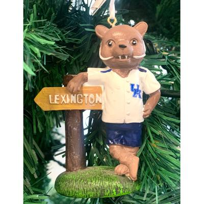 Kentucky Seasons Design Mascot w/ Sign Ornament
