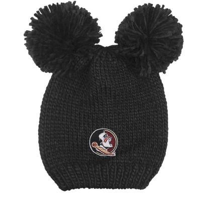 FSU LogoFit Kids' Double Pom Knit Hat