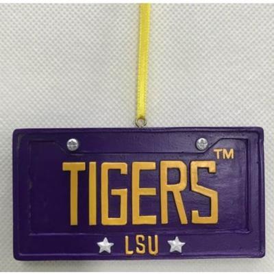 LSU Seasons Design License Plate Ornament