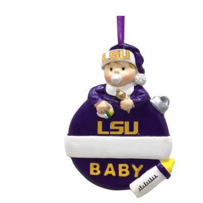 LSU Seasons Design Baby's 1st Christmas Ornament