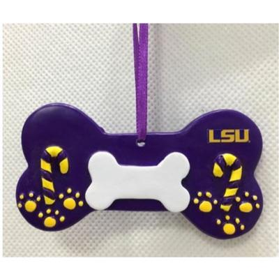 LSU Seasons Design Dog Bone Ornament