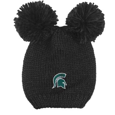 Michigan State LogoFit Kids' Double Pom Knit Hat