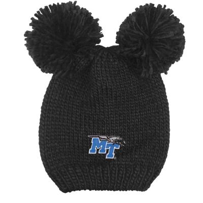 MTSU LogoFit Kids' Double Pom Knit Hat