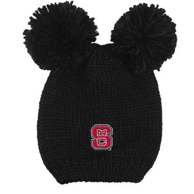 NC State LogoFit Kids' Double Pom Knit Hat