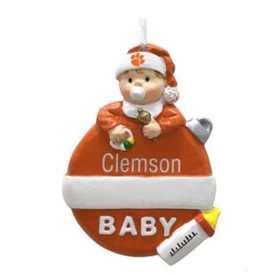 Clemson Seasons Design Baby's 1st Christmas Ornament