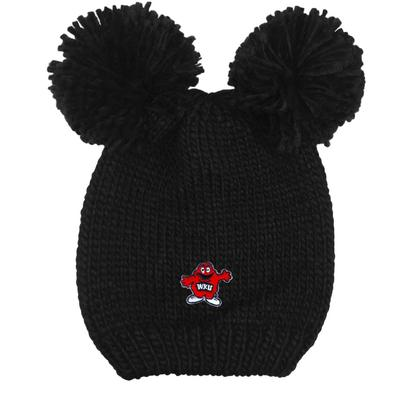 Western Kentucky LogoFit Kids' Double Pom Knit Hat