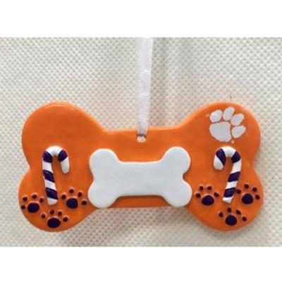 Clemson Seasons Design Dog Bone Ornament