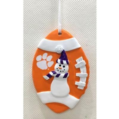 Clemson Seasons Design Football Snowman Ornament
