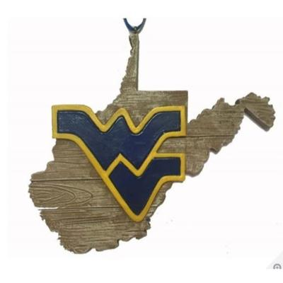 West Virginia Seasons Design State Outline Ornament