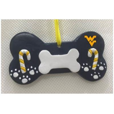 West Virginia Seasons Design Dog Bone Ornament