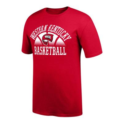 Western Kentucky Arch with Fading Basketball Tee Shirt