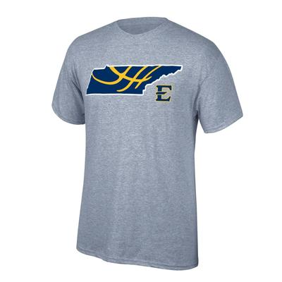 ETSU Basketball in State Tee Shirt OXFORD
