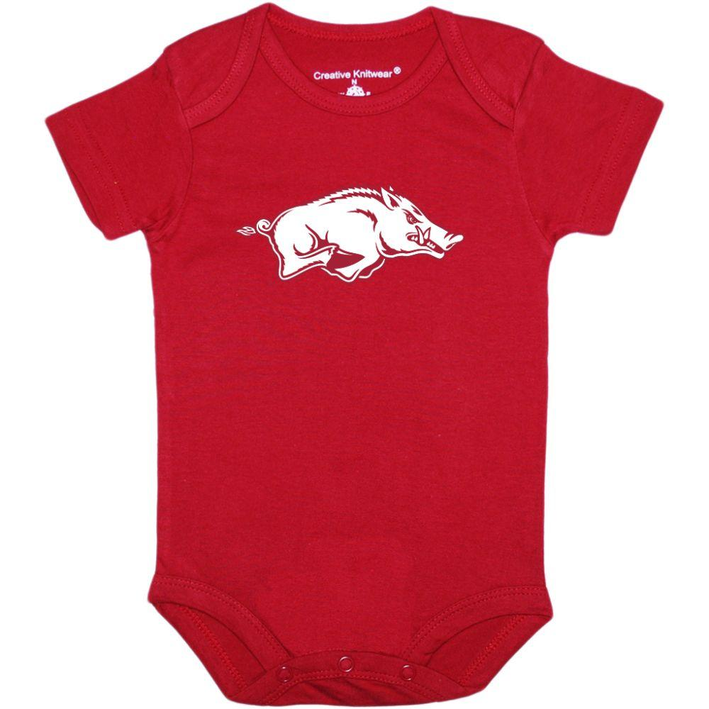 Arkansas Creative Knitwear Infant Razorback Onesie