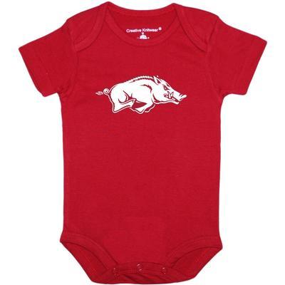 Arkansas Creative Knitwear Infant Razorback Onesie