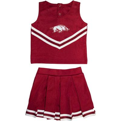 Arkansas Toddler Two-Piece Cheerleader Outfit